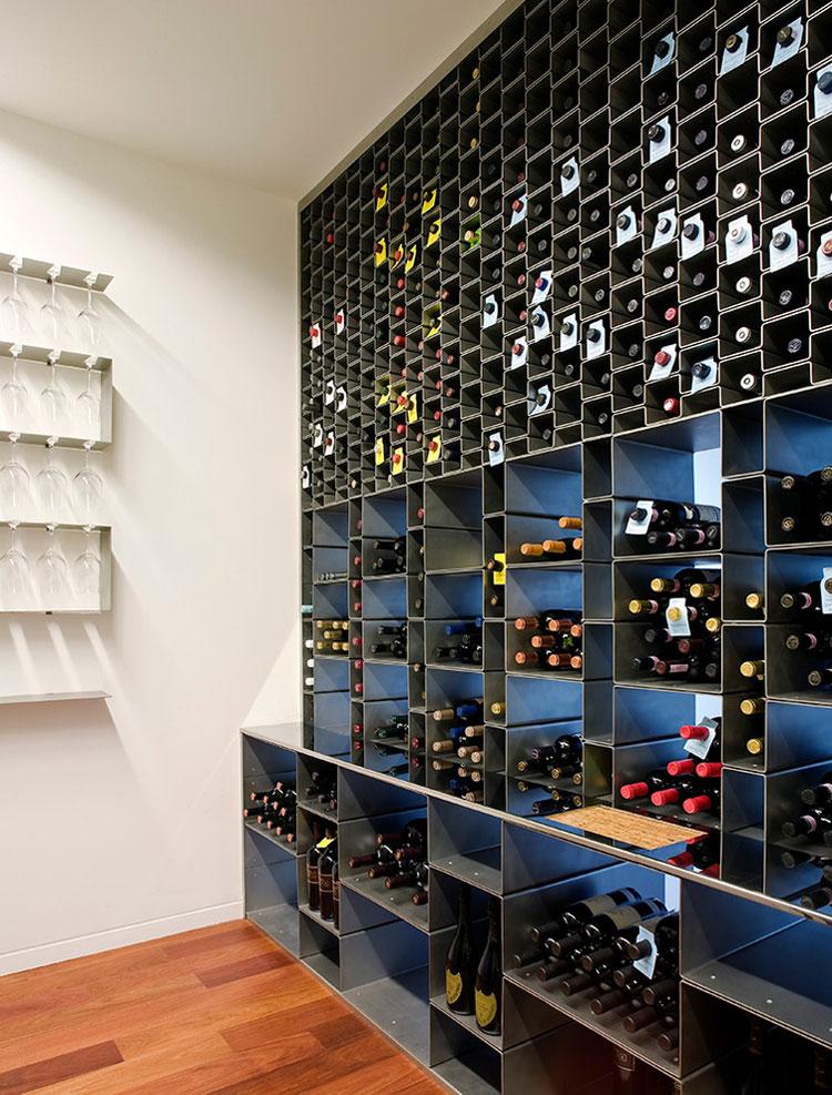 Modello di portabottiglie di vino da parete n.37