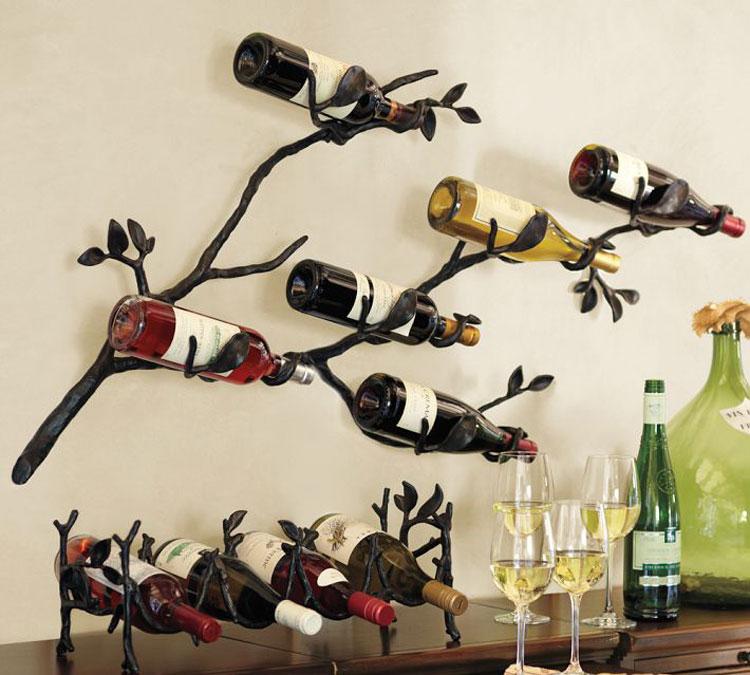 Modello di portabottiglie di vino da parete n.40
