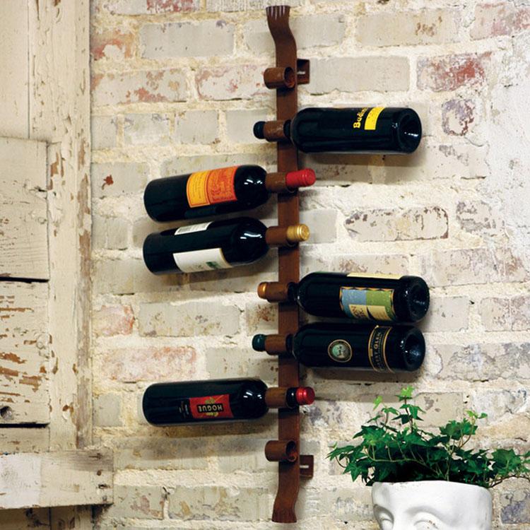 Modello di portabottiglie di vino da parete n.44