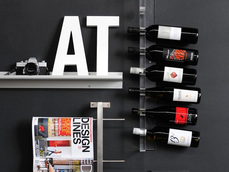 Modello di portabottiglie di vino da parete n.46