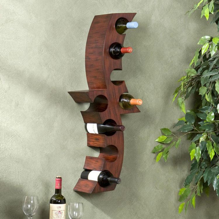 Modello di portabottiglie di vino da parete n.47