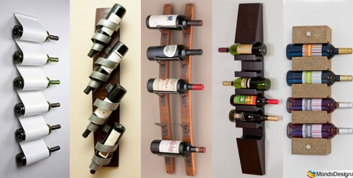 50 Portabottiglie di Vino da Parete per Tutti i Gusti