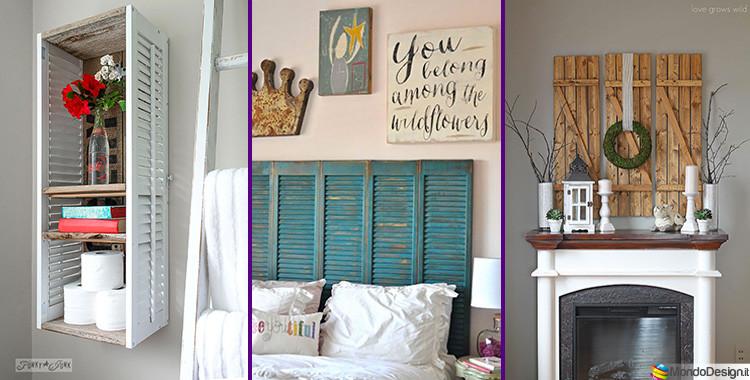 Idee originali arredamento arredare la casa con tronchi e for Arredo shabby economico