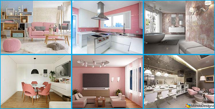 Esempi di arredamento col rosa quarzo il colore del 2016 for Esempi di arredamento interni