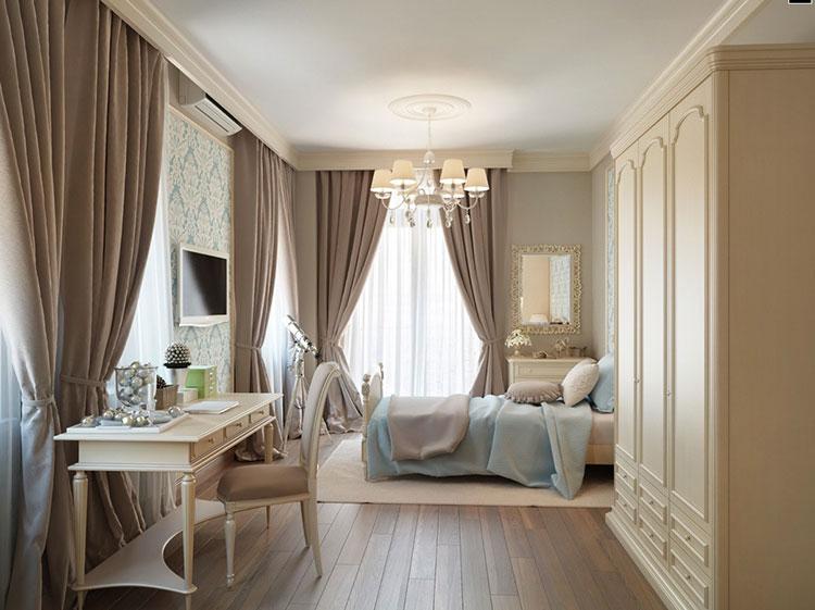 Camera da letto romantica col grigio talpa n.01