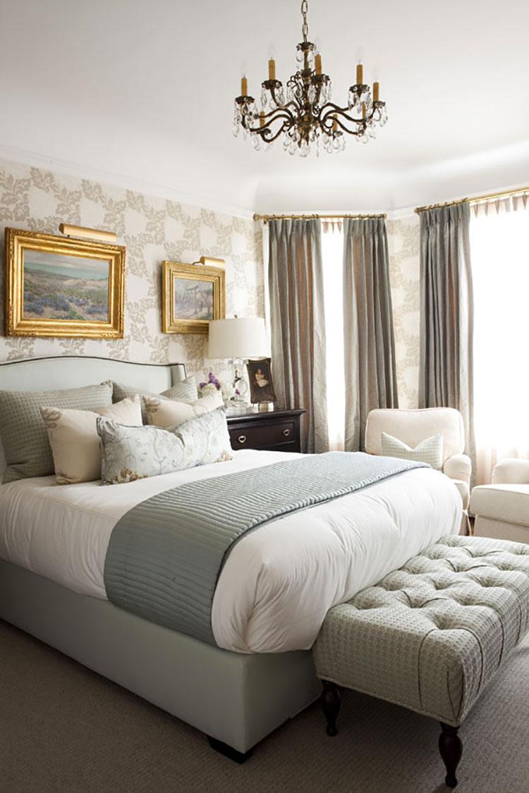 Camera da letto romantica col grigio talpa n.02