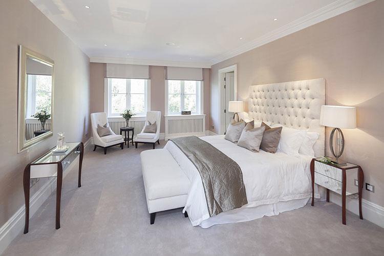 Camera da letto romantica col grigio talpa n.03