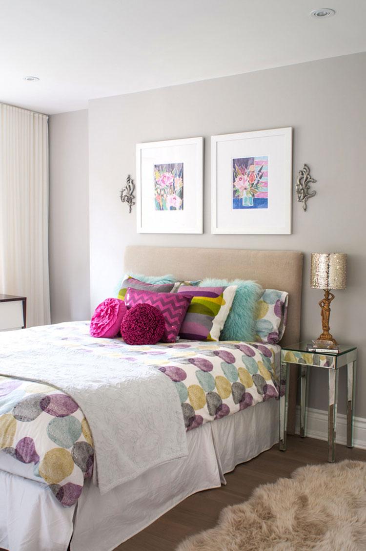 Camera da letto romantica col grigio talpa n.04