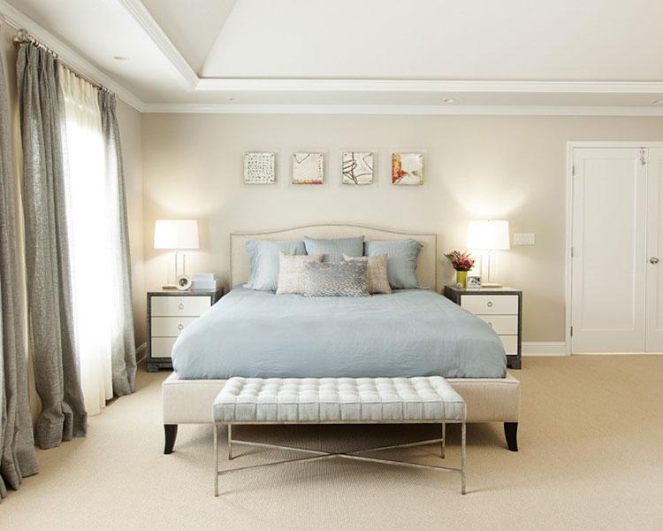 Camera da letto romantica col grigio talpa n.05