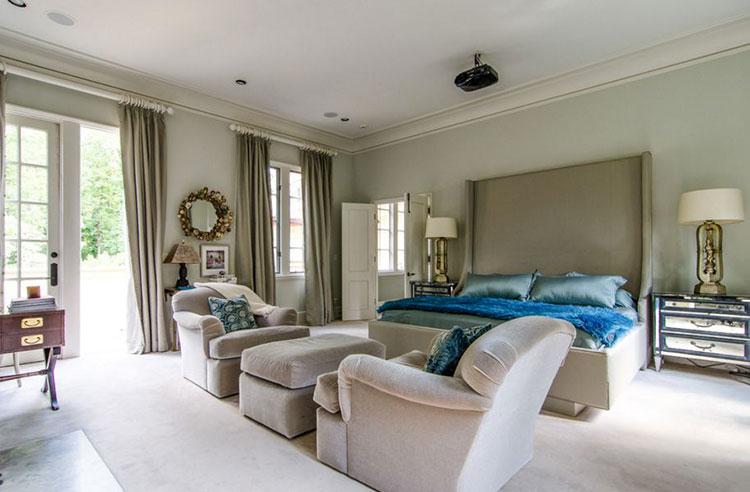 Camera da letto romantica col grigio talpa n.06