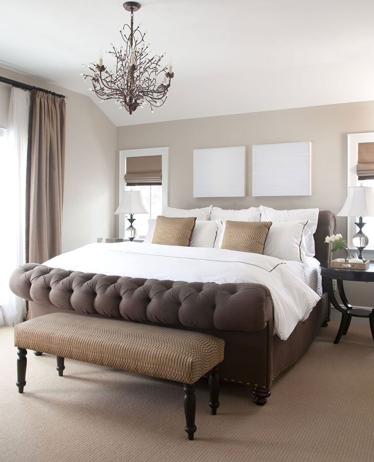 Camera da letto romantica col grigio talpa n.07