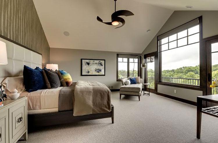 Camera da letto romantica col grigio talpa n.08