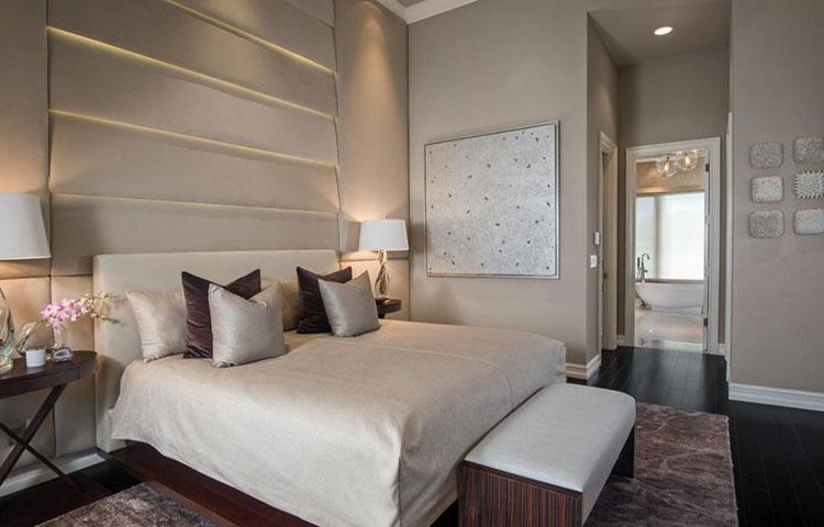 Camera da letto romantica col grigio talpa n.09
