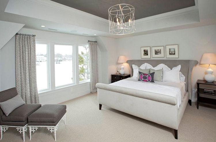 Camera da letto romantica col grigio talpa n.11