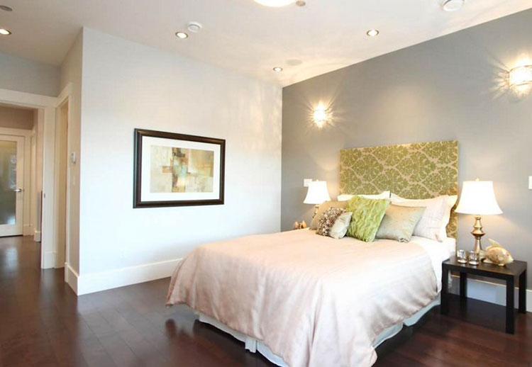 Camera da letto romantica col grigio talpa n.12