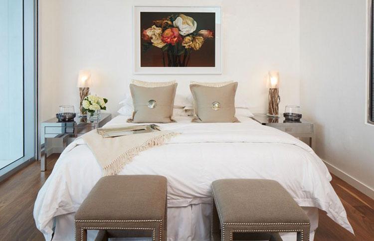 Camera da letto romantica col grigio talpa n.13