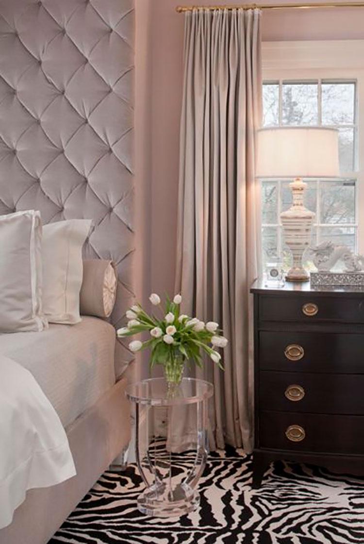 Camera da letto romantica col grigio talpa n.15