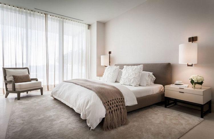 Camera da letto romantica col grigio talpa n.16