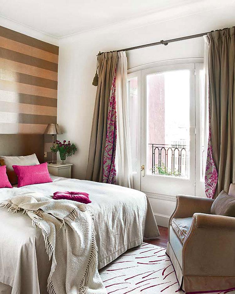 Camera da letto romantica col grigio talpa n.17