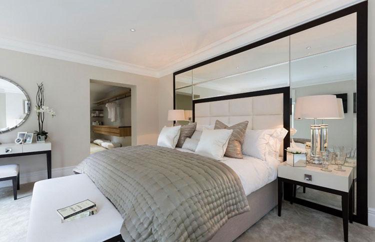 Camera da letto romantica col grigio talpa n.19