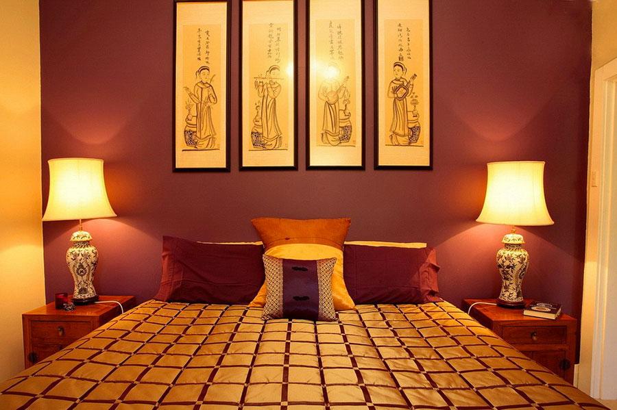 Modello di camera da letto Feng Shui n.12