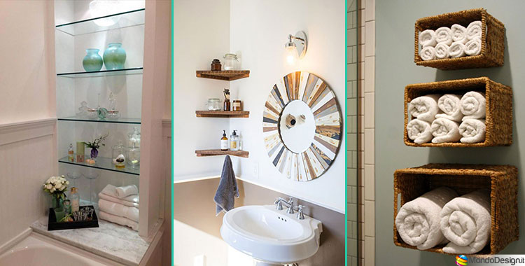15 idee di design per scaffali e pensili da bagno - Idee per arredo bagno ...
