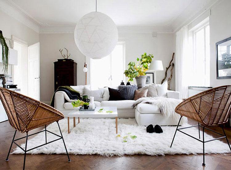 Idee per arredare il salotto con mobili in rattan n.3
