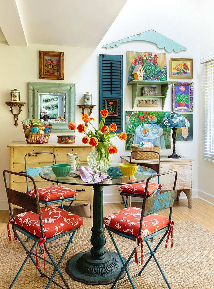 30 idee per arredare la sala da pranzo shabby chic for In n out dining room hours