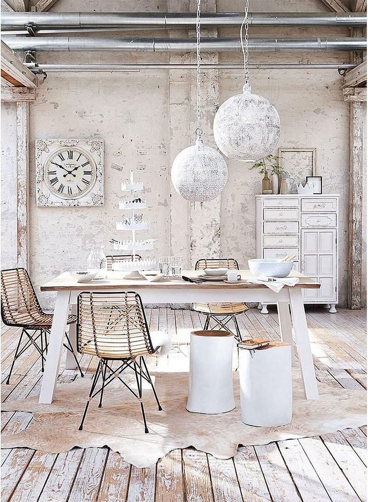 30 idee per arredare la sala da pranzo shabby chic. Black Bedroom Furniture Sets. Home Design Ideas