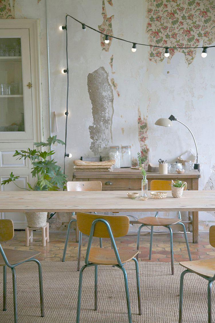 Idee per arredare la sala da pranzo in stile shabby chic n.16