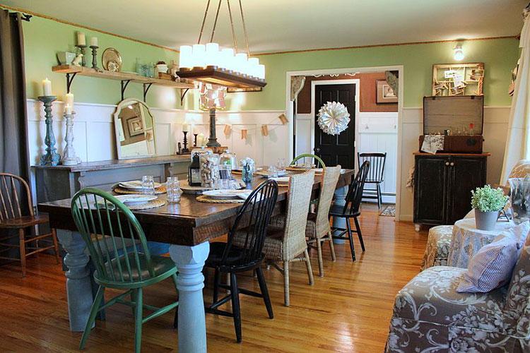 Idee per arredare la sala da pranzo in stile shabby chic n.17