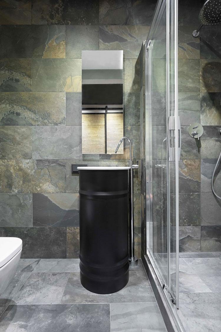 Idee di design per arredare piccoli bagni n.09