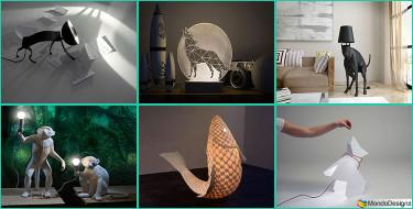 20 Lampade a Forma di Animali Davvero Originali