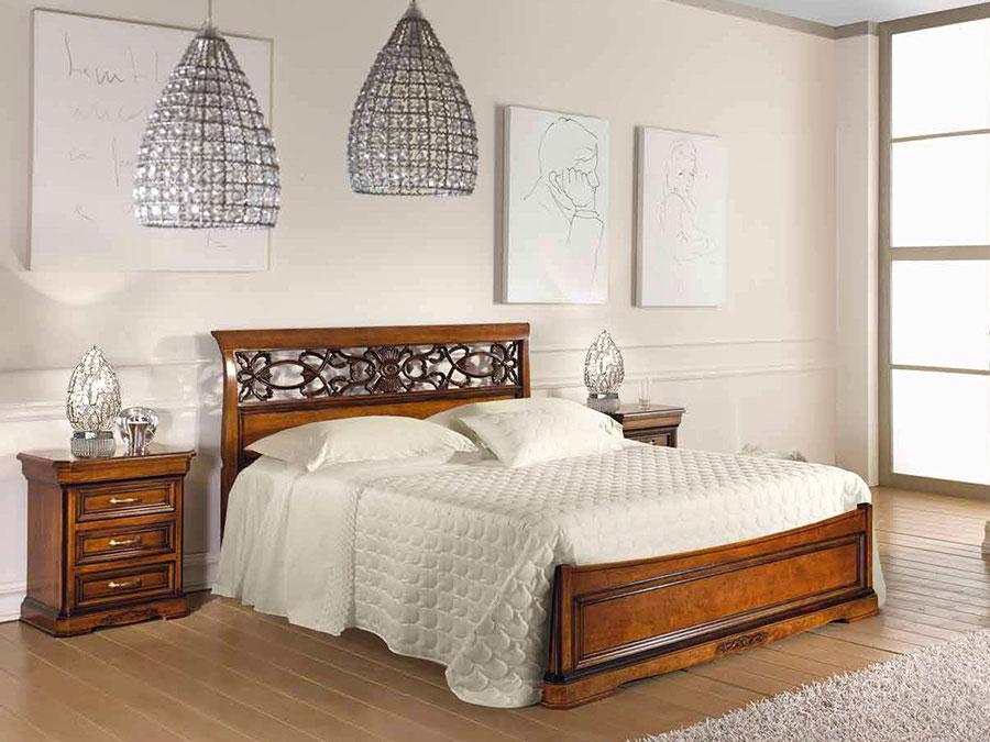 Modello di letto in legno classico n.01