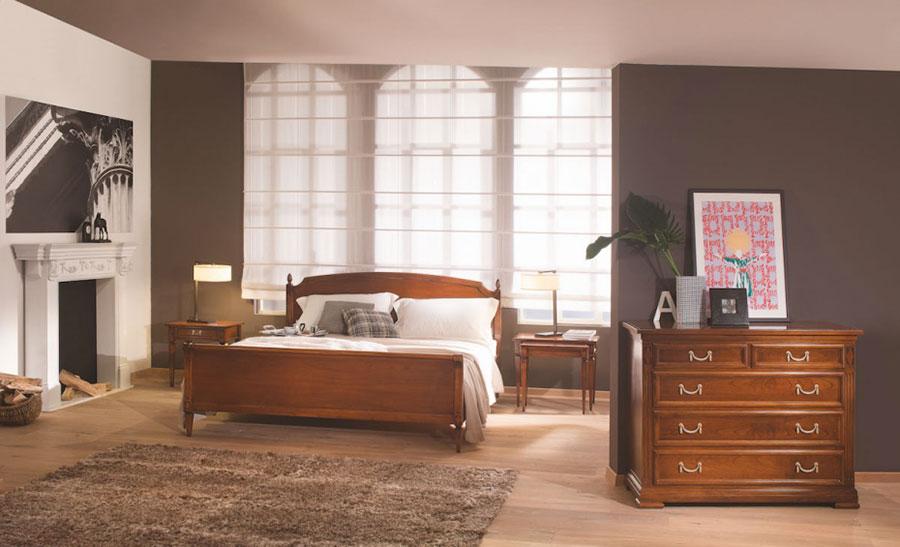 Modello di letto in legno classico n.05