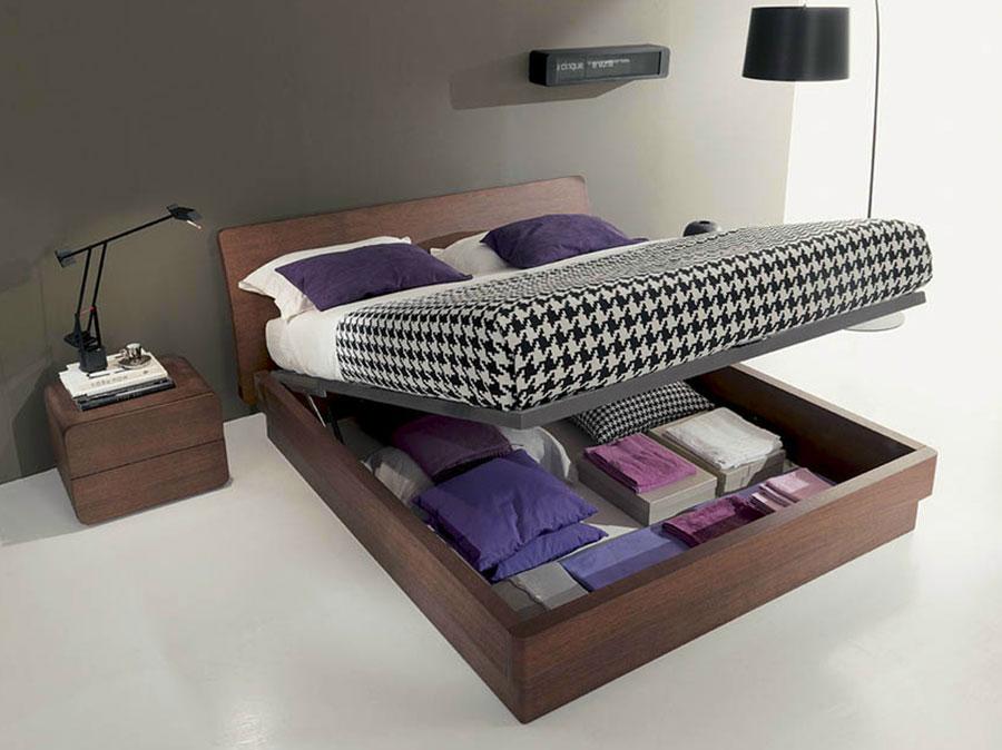 Modello di letto in legno con contenitore n.05