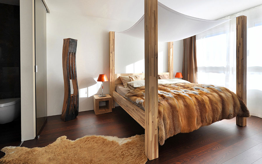 Splendidi modelli di letti in legno dal design originale - Testiera letto originale ...