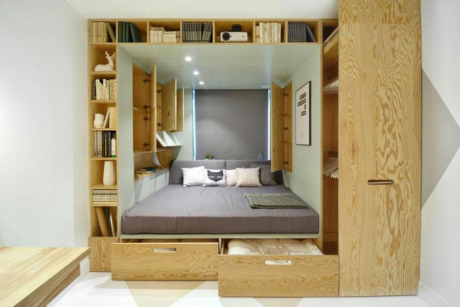 Letto in legno dal design originale n.07