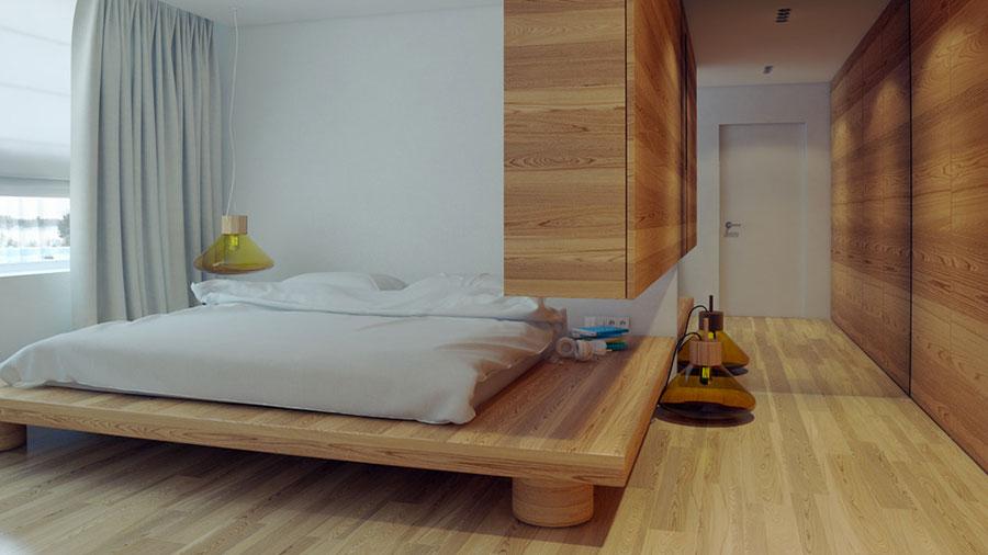 Letto in legno dal design originale n.11