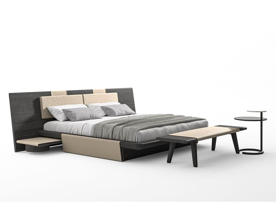 Modello di letto in legno massello n.01