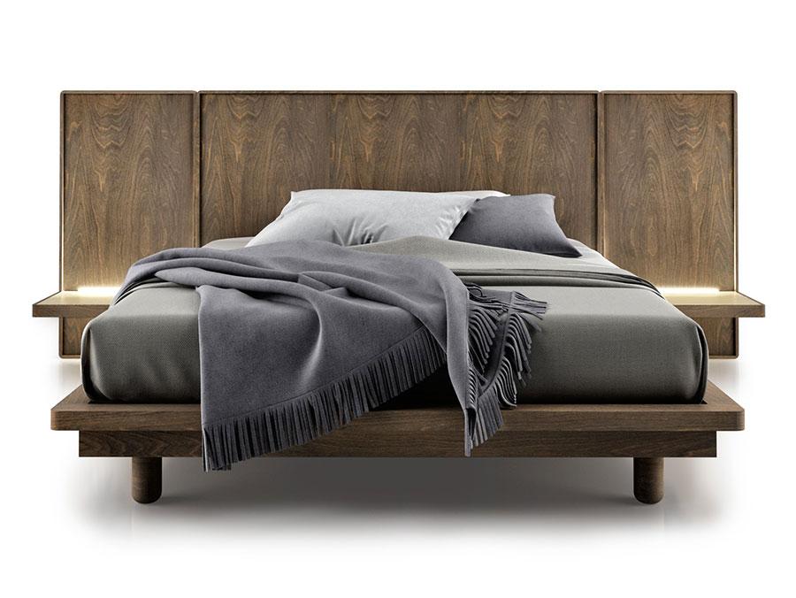 Modello di letto in legno massello n.05