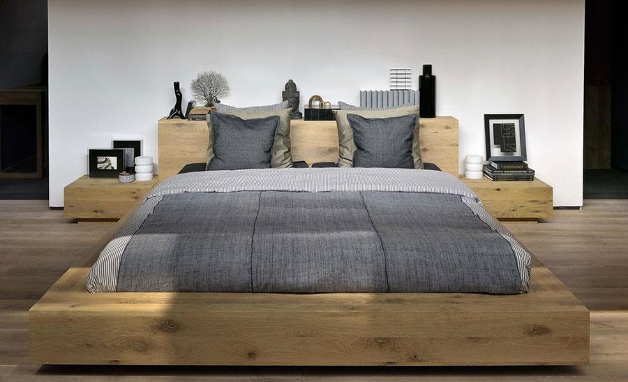 Modello di letto in legno moderno n.04