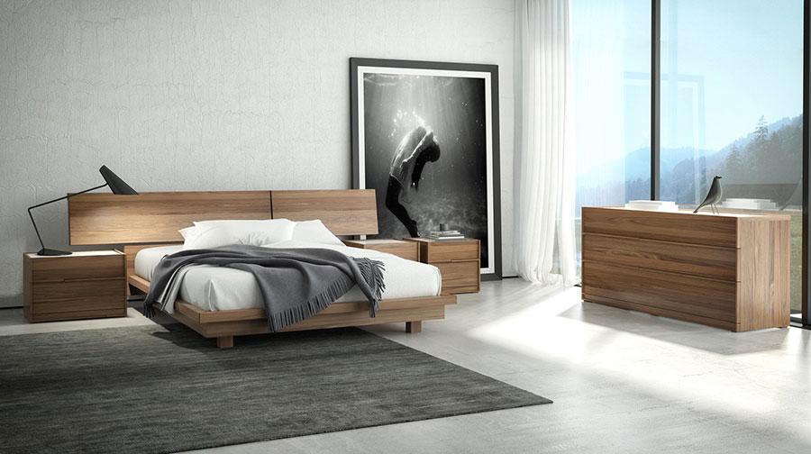 Modello di letto in legno moderno n.05