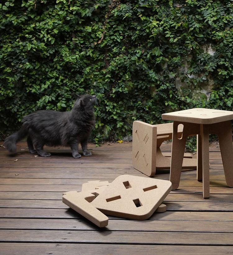 Mobili e oggetti design realizzati in sughero n.01