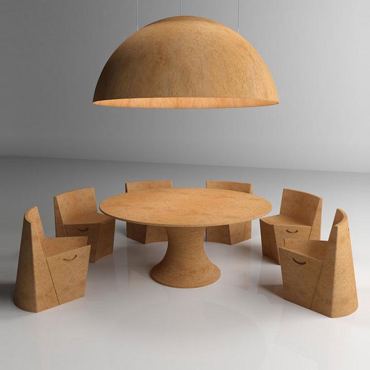 Mobili e oggetti design realizzati in sughero n.04