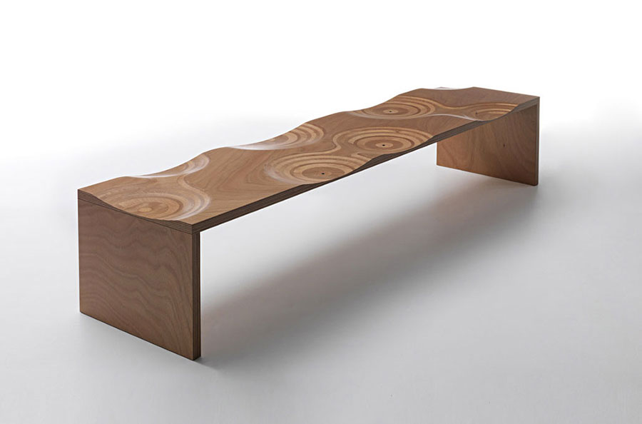 Spettacolari panche di design in legno n.05