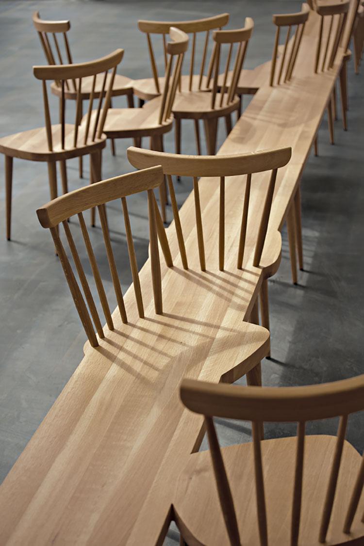 Spettacolari panche di design in legno n.08