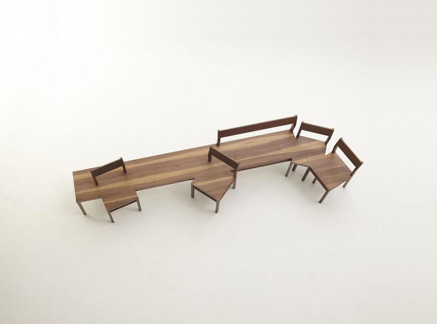Spettacolari panche di design in legno n.09
