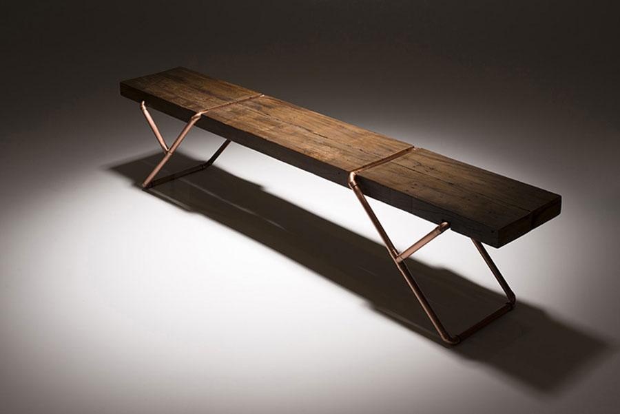 Spettacolari panche di design in legno n.12