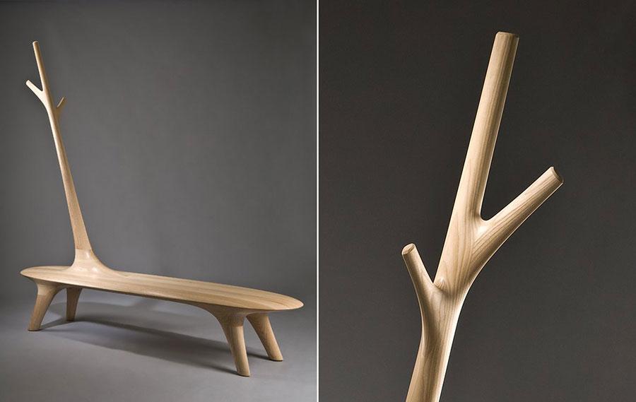 Spettacolari panche di design in legno n.13